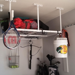 Thank you Fleximounts for the awesome garage rack! We are saving space, organized, and looking good! I love the hook accessories so we can add even more! Our family loves it! Photo by ‎Hauns Brereton‎