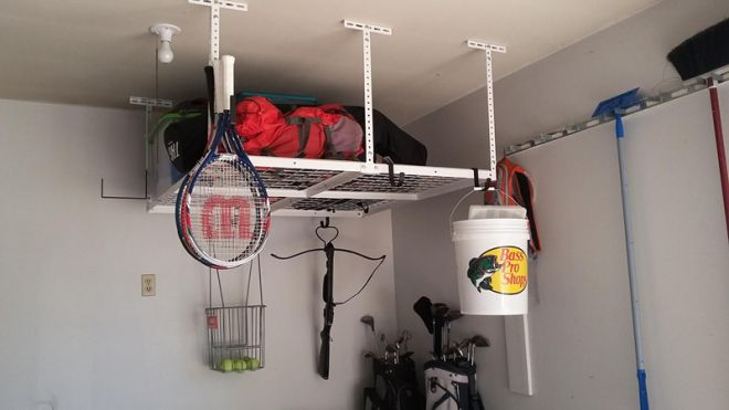 Thank you Fleximounts for the awesome garage rack! We are saving space, organized, and looking good! I love the hook accessories so we can add even more! Our family loves it! Photo by Hauns Brereton