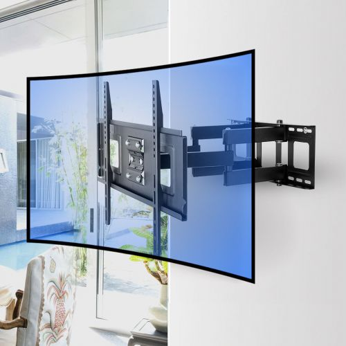 Cr1 curved tv wall mount for 32 65 fleximounts for Samsung motorized tv wall mount
