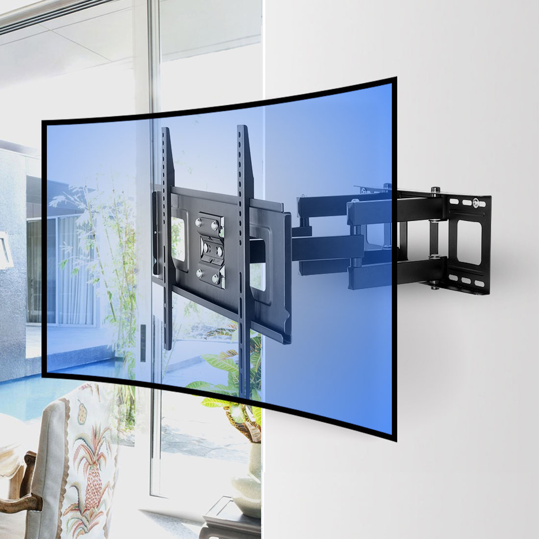 Cr1 Curved Tv Wall Mount For 32 65