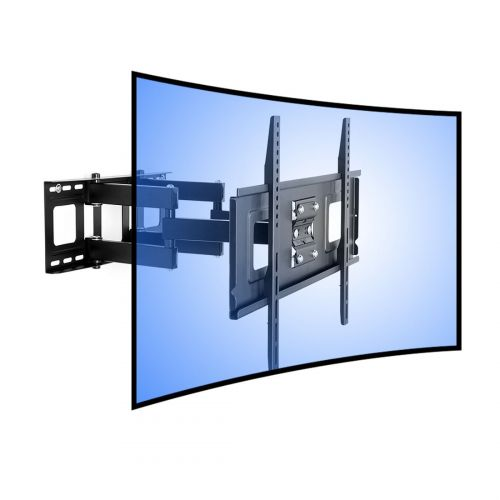 "FLEXIMOUNTS CR1 CURVED LED LCD TV WALL MOUNT FULL MOTION BRACKET FOR 32""-65"" UP TO 132LBS"