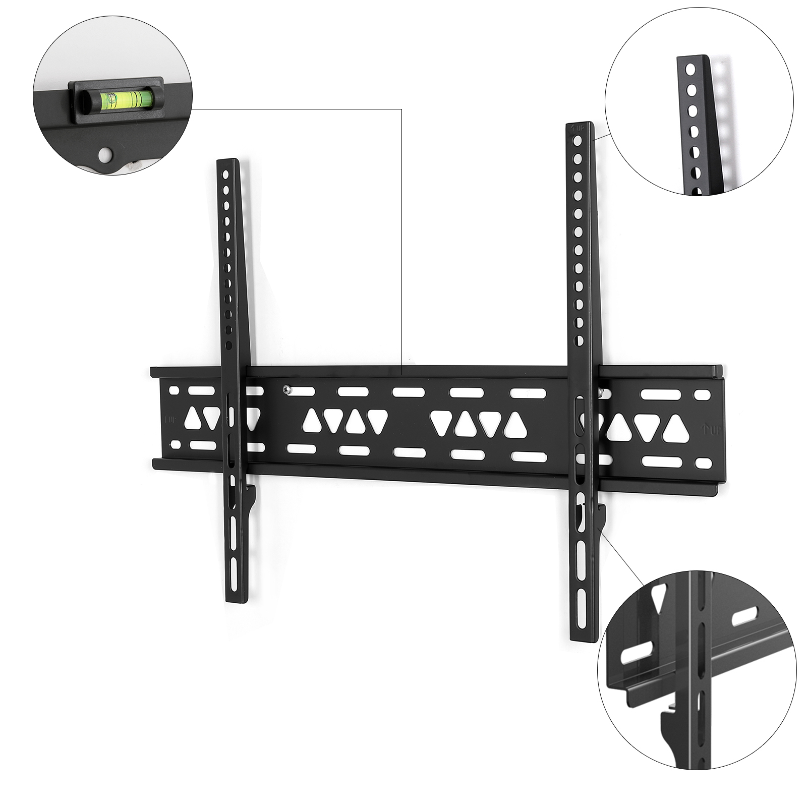 fleximounts f023 fixed tv wall mount tv bracket for up to 99lbs - Tv Mount