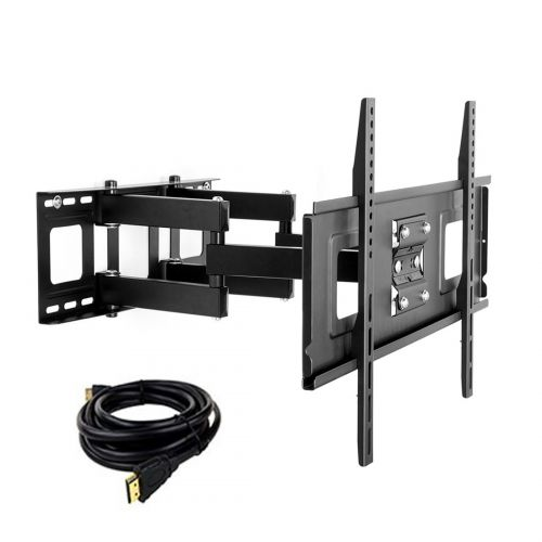 FLEXIMOUNTS Full Motion TV Mount for 32''-65'' UP TO 132LBS WITH A 6FT HDMI CABLE..