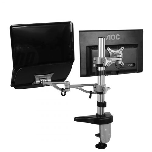 FLEXIMOUNTS M14 DUAL ARM DESK LAPTOP MOUNT LCD ARM (10-27, 3.3-17.6 LBS)