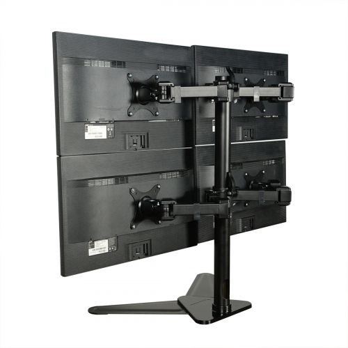 FLEXIMOUNTS free standing quad monitor stand