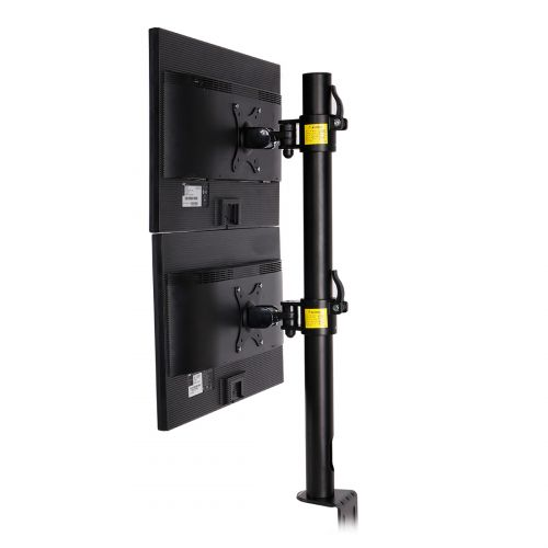 FLEXIMOUNTS vertical dual monitor desk mount