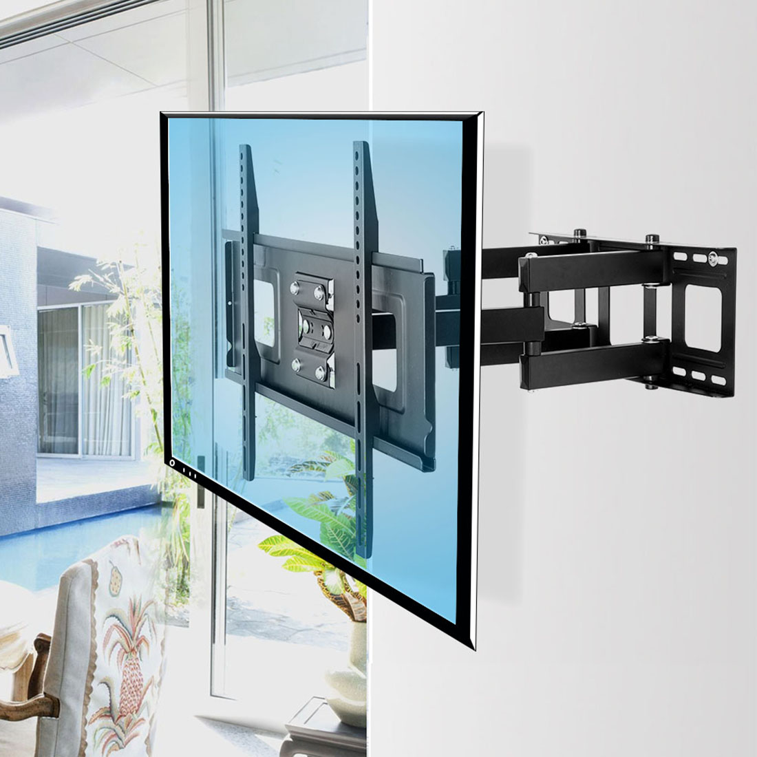 A04h Full Motion Tv Wall Mount For 32 70 Fleximounts