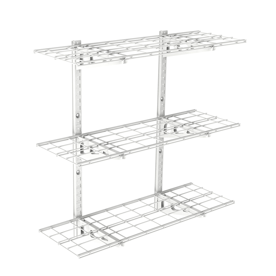 Incroyable WS13 3 Tier Storage Wall Shelves (White)